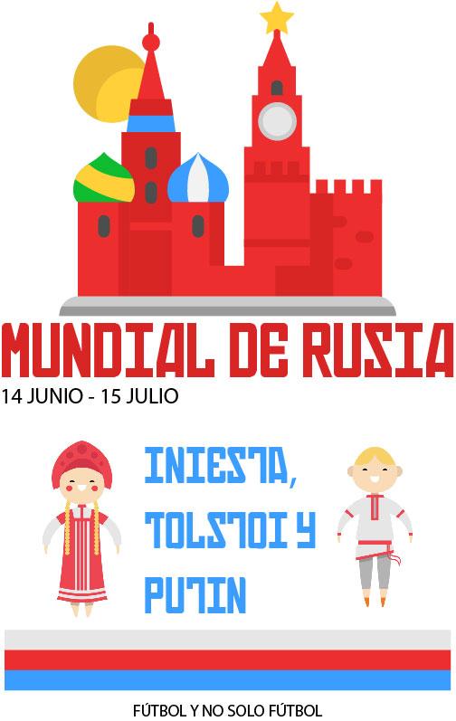 Mundial de Rusia 2018 - Iniesta, Tolstoi y Putin