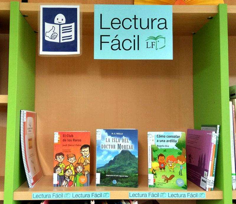 Expositor de libros de Lectura Fácil