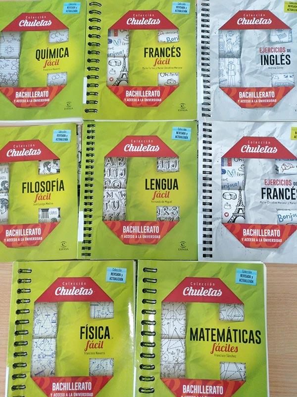 """Colección """"Chuletas"""" para Bachillerato, editorial Planeta"""