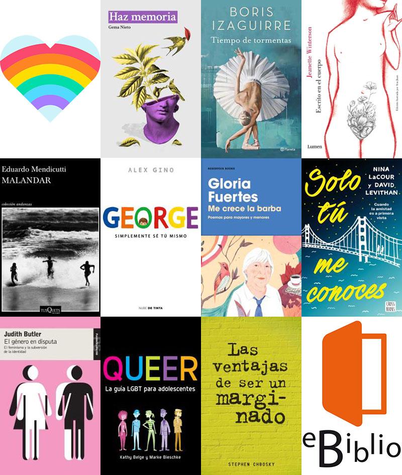Libros LGTBIQ+ en eBiblio